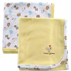 Pack Interlock Cotton Receiving Blankets, Yellow
