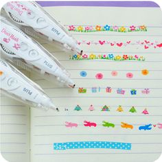 Set of 3 New Japanese Decoration Pen Tape for DIY by JnMstudio