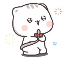 LINE Stickers Cutie Cat-Chan Jimao,Cutie Cat-Chan is coming again !,Stickers,Animated Stickers,Example with GIF Animation Images Emoji, Cute Cartoon Pictures, Cute Love Cartoons, Cute Anime Cat, Cute Cat Gif, Cute Cats, Cute Bear Drawings, Cute Cartoon Drawings, Gif Mignon