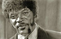 Amazing Pencil Drawing: Samuel L. Jackson from Pulp Fiction