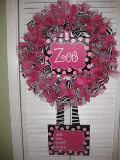 Baby Girl Hospital Door Hanger | ... Boutique Baby Wreaths, Birth Announcements, and Hospital Door Hangers