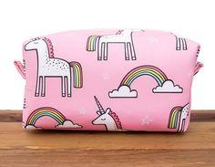 Unicorn Makeup Bag Unicorn Gifts Large Makeup Bag by HappyBagCo