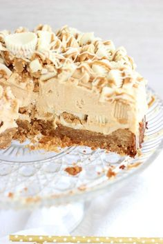 white chocolate peanut butter blondie cheesecake 43
