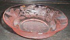 pink depression glass