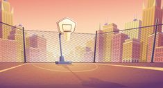 Buy Vector Cartoon Background of Street Basketball by vectorpocket on GraphicRiver. Vector cartoon background of basketball court in city. Outdoor sports arena with basket for game. Street playground i. Street Basketball, Basketball Court, Cartoon Background, Vector Background, Animation Background, Background Banner, Basketball Background, Episode Backgrounds, Blue City