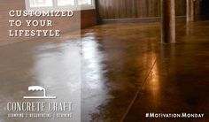 Customized to your lifestyle l Concrete Craft #MotivationMonday