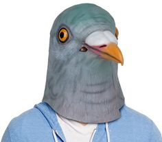 Pigeon Latex Full Head Mask - Accoutrements - Animals - Costumes at Entertainment Earth Animal Head Masks, Bird Masks, Animal Heads, Horse Mask, Horse Head, Pigeon Costume, Squirrel Mask, Creepy Animals, Dove Pigeon