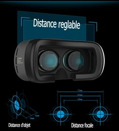 CUDEVS VR Glasses, VR Goggle Headset Virtual Reality with Adjustable Lens for iPhone 6 plus Samsung Edge Note 4 5 6 and inch Smartphone for Movies and Games (VR Shinecon Plus) Virtual Reality Glasses, Virtual Reality Headset, Google Cardboard V2, 3d Vr Box, Vr Shinecon, Smartphone, Cheap Computers, Android Pc, 3d Video