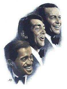 The great three, Sammy Davis Jr. Dean Martin and Frank Sinatra.: The Rat Pack Dean Martin, Hollywood Stars, Classic Hollywood, Old Hollywood, Hollywood Pictures, Joey Bishop, Humphrey Bogart, Mark Summers, Musica Disco