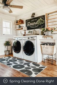 Laundry Room Colors, Laundry Room Rugs, Laundry Room Layouts, Laundry Room Shelves, Laundry Decor, Farmhouse Laundry Room, Small Laundry Rooms, Laundry Room Organization, Laundry Room Design