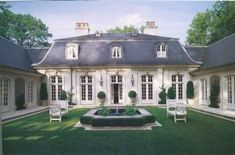 44 Amazing French Country Exterior For Your Home Inspiration - ROUNDECOR - Amazing french country exterior for your home inspiration 10 French Country Exterior, Country Home Exteriors, Country House Plans, Design Exterior, Facade Design, Stucco Exterior, Exterior Shutters, Exterior Cladding, Modern Exterior