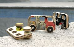 buses made from recycled skateboards-- so cool!