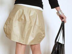 Bubble Skirt Cotton Skirt Short Skirt Women by atelierPop