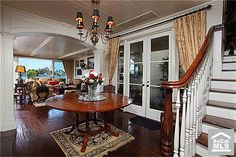 The Pecan Wood Floors look amazing in this Lido Nord Oceanfront Home.