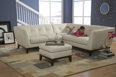 Natuzzi leather sectional at Hefner's in Poplar Bluff and Farmington.
