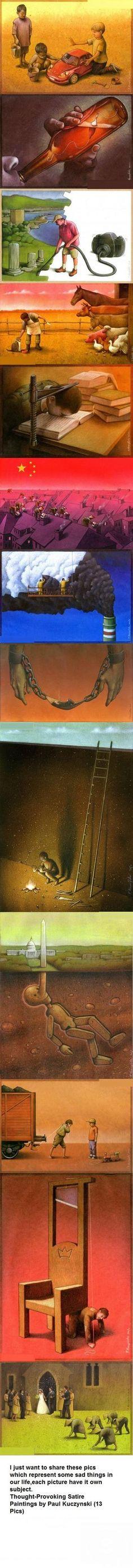 Thought-provoking art by Paul Kuczynski