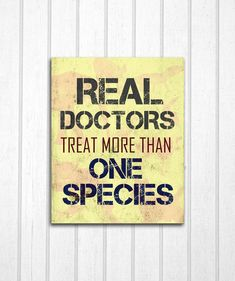 Real Doctors Veterinarians 8x10 Print by MayaGraceDesigns on Etsy, $12.99