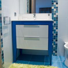 XY WC Lacado Brilho Branco E Lacado Brilho Azul Cobalto | XY White Glossy  And Cobalt