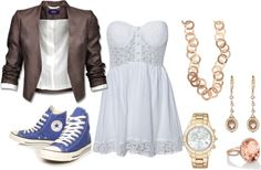I love dresses and converse..., created by tennisgirl2010 on Polyvore