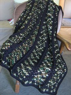 The camo afghan--gift for son