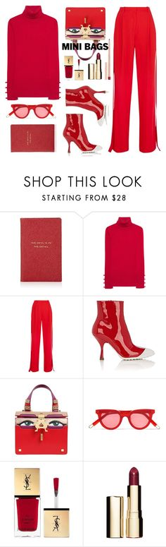 """""""organized"""" by gabrielleleroy ❤ liked on Polyvore featuring Smythson, Steffen Schraut, Givenchy, Miu Miu, Giancarlo Petriglia, Gentle Monster, Yves Saint Laurent, Clarins, Maybelline and monochrome"""