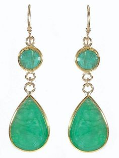 Emerald Drops set in 22K Yellow Gold.