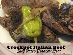 We are in LOVE with Keto Crockpot Italian Beef Recipe. This is an easy freezer meal that becomes a hearty supper that they whole family will love. Best of all you can serve it as a Paleo Freezer Meals, Keto Crockpot Recipes, Cooking Recipes, Freezer Cooking, Healthy Recipes, Crockpot Meals, Healthy Foods, Italian Beef Recipes, Italian Beef Sandwiches