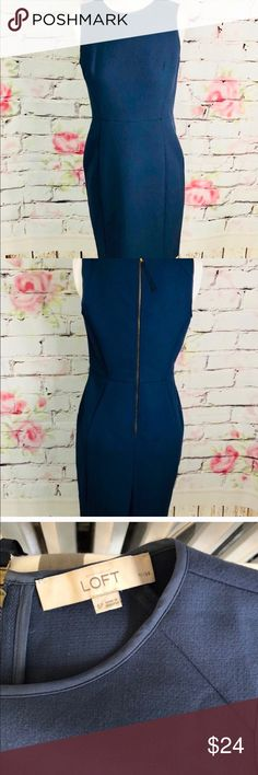87a65e53b8 Shop Women's LOFT Blue size Dresses at a discounted price at Poshmark.