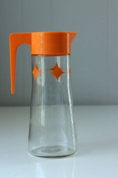 vintage mod atomic star pitcher by millieandchet on Etsy, $20.00