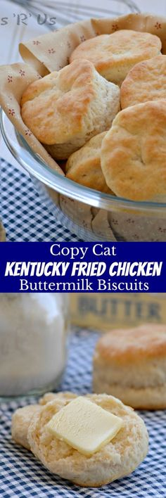 With a golden, buttery crisp on the outside and flaky soft inside the layers that just melt in your mouth these Copy Cat KFC Biscuits are the only buttermilk biscuit recipe you'll ever want or need. Kfc, Buttermilk Biscuits, Blueberry Biscuits, Flakey Biscuits, Mayonaise Biscuits, Baking Powder Biscuits, Buttermilk Chicken, Tea Biscuits, Kentucky Fried