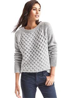 Gap Women's cable knit short waist crew