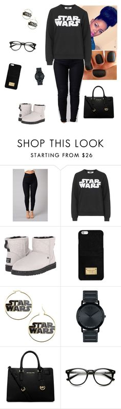 """Star Wars"" by aaliyah-am ❤ liked on Polyvore featuring Topshop, UGG Australia, MICHAEL Michael Kors and Movado"