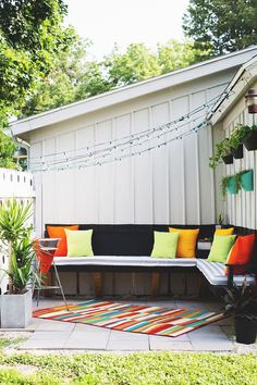 Dig the outdoor space. Not sure how I feel about the lights tho - tacky or great?