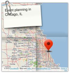 Right now were looking for event planners in Chicago, IL. (courtesy of @Pinstamatic http://pinstamatic.com)