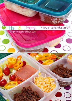 His and Hers lunch boxes