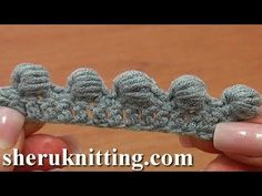 Work Puffy Bullion Block Stitch Crochet Tutorial 40 Part 3 of 7 Great Trimming Idea - YouTube