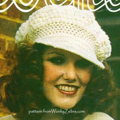 A floppy crochet baker boy hat; make in cotton for summer days. patternWZ 431( also berets and knitted cap.