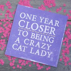 'Crazy Cat Lady' Card from notonthehighstreet.com