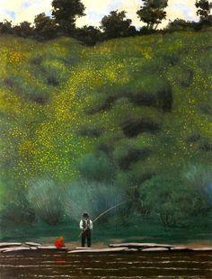 """""""Gorse in Bloom , Avallon"""" oil on canvas (1923) Felix Vallotton."""