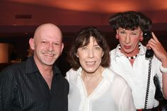 "Lily Tomlin, and David ""Scarbie"" Mitchell, 2007, at the Van Wezel Performing Arts Hall, Sarasota, Florida"