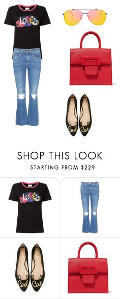 """""""Cute girl"""" by phamthuquynh on Polyvore featuring Yves Saint Laurent, rag & bone/JEAN, Kate Spade, Maison Margiela and Topshop"""