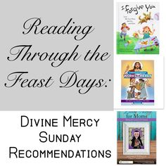 Children's book and Catholic mom book recommendations for Divine Mercy Sunday Feast Day. catholic faith. reading.