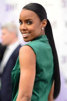 Kelly Rowland - Love the sleek ponytail
