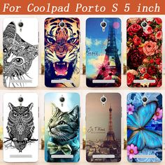 "Case For Coolpad Porto S Phone Cover 5.0"" Soft Silicone Patterns Painting Back Cover For Fundas Coolpad Porto S Phone Cases"