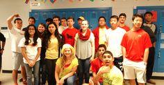 Cada día durante la semana tenía colores que usaban los estudiantes. Esta es mi clase. Todo el mundo participaron en la ropa porque habíamos planeado la semana