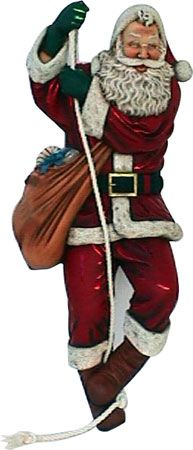 SANTA CLIMBING ON ROPE CHRISTMAS DECOR 6FT
