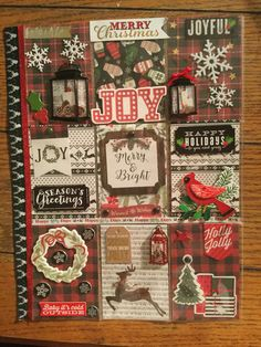 Merry Christmas and Happy Holidays pocket letter created by Brittany Mitchell