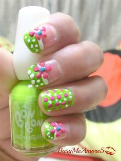 15-Cool-Easy-Summer-Nail-Designs-Ideas-For-Girls-2013-9 THE MOST POPULAR NAILS AND POLISH #nails #polish #Manicure #stylish by brittney #prom nail art