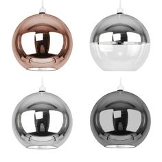 Details about Large Metallic Copper / Chrome Glass Globe Ceiling Pendant Light Shade Shades - All For Decoration Diy Pendant Light, Large Pendant Lighting, Copper Pendant Lights, Copper Lighting, Ceiling Pendant, Ceiling Lamp, Ceiling Lights, Copper Lampshade, Lampshades