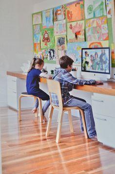 Kids nook Craft Corner, Kids Decor, Home Decor, August 2014, Kid Spaces, Homework, Nook, Living Area, Home Remodeling